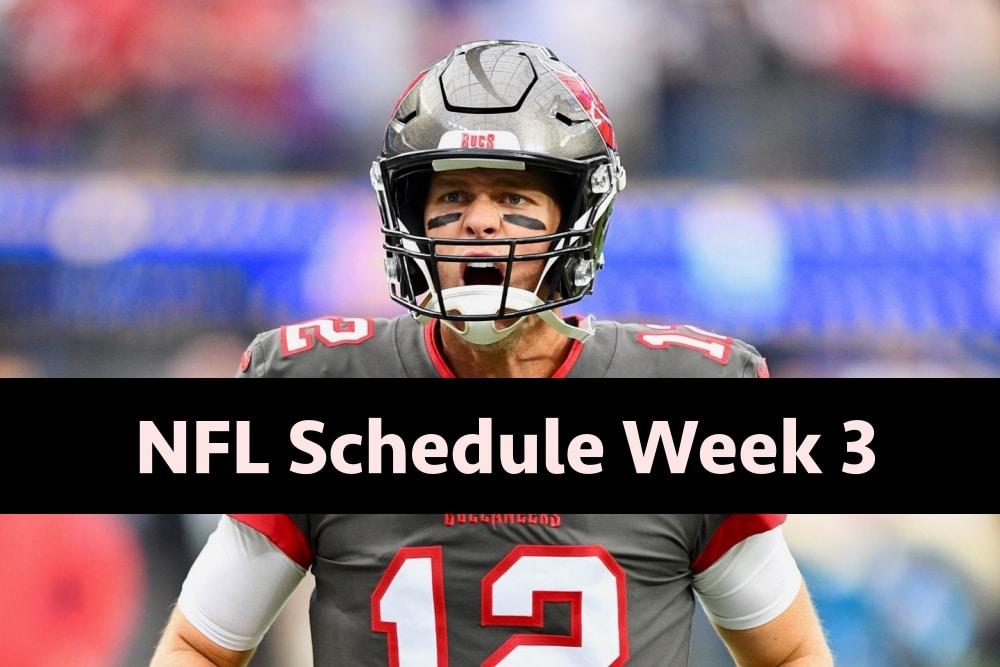 NFL Schedule Week 3